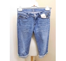 7 For All Mankind Cropped Jean Shorts Blue Jean Size: 30""