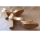 Shoes of Prey EUR 39.5 heeled sandals gold Size: 6.5
