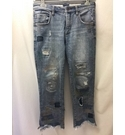 Pilcro Anthropologie Cropped jeans with decoration Blue Size: XS