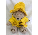 "Paddington Bear Yellow Raincoat Hat 17"" Plush Teddy Bear Paddington And Co 2010"