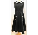 Hearts & Roses 50's style Dress Black Size: 16