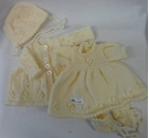 Beautiful hand knitted dolls clothes - Cream