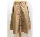 Bean Pole Skirt Beige Size: 8