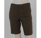 Ralph Lauren Wool Herringbone Weave Shorts Brown Size: XS