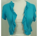 Per Una Frilly shrug Turquoise Size: 12