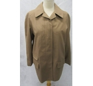 John Sweeney vintage short rainwear coat brown Size: 16