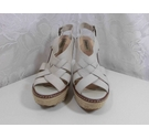 Dune Cork wedge sandals Stone Size: 5