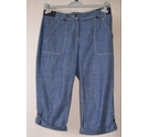 Maine Knee length Shorts Blue Size: 32""