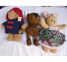 3 vintage teddy bears Including Paddington Bear