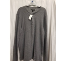 banana republic long sleeve mens top grey Size: L