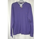 Tommy Hilfiger Cotton Jumper Purple Size: XL