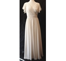 BNWT - Watters-US 10- Capped Sleeve Bride Maid Dress - Oyster