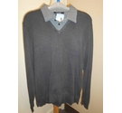 Jack Reid Mock layered shirt jumper Grey Size: L