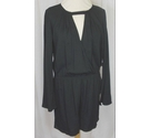 Just Fab Wrap Front Playsuit Black Size: M