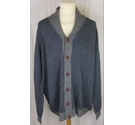 Blue Harbour NEW Caridgan Blue and Grey Size: XXL