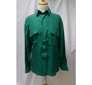 Silkking Vintage Silk Shirt 1970's Green Size: L