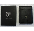 "Travando Slim Wallet with Money Clip Black Size: 4"" x 3"""