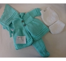 Beautiful hand knitted dolls clothes - Tuquoise