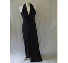 Star by Julien Macdonald black stretch lurex jumpsuit smart silver glitter Size: 12