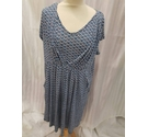 jo jo maman bebe breast feeding dress blue mix Size: L