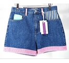Guess A$AP Rocky Mixed Denim Shorts Blue and Pink Size: S
