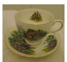 ROYAL VALE VINTAGE COUNTRY COTTAGE GARDEN CUP & SAUCER