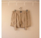 R Essentiel Chic Linen Shorts w Belt Beige Size: 28""
