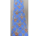 Little Venice Nautical Design Silk Tie Blue Size: One size