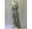 BNWT M&S Collection paisley jumpsuit belt smart boho party ivory multi Size: 10