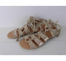 NWOT Marks & Spencer KIDS Gladiator Style Sandals Gold Size: 2
