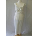 BNWT Lavish Alice jumpsuit cropped draped smart party ivory off white Size: 16