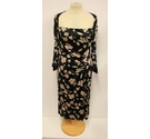 Ghost Floral Print Dress Black Size: 12