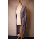 M&S Indigo Collection Long Cardigan Blue Mix Size: 12