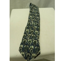 Hermes Peacock Feather Blue and Grey Silk Tie Size: One size
