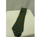 Hermes Green Snail Patterned Silk Tie Blue Size: One size
