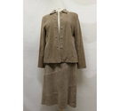 Phase Eight Suede Jacket & Skirt Beige Size: 12