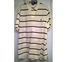 Polo Ralph Lauren Striped Polo Shirt Brown/Cream Size: XXL