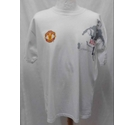 Manchester United Official Wayne Rooney T-Shirt White Size: L