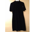 Great Plains Mini Dress Black Velvet Size: XS