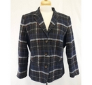 Barbara Lebek jacket navy check Size: 16