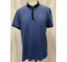 Hugo Boss Striped Polo Shirt Blue Size: L