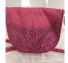 Handmade Felted flapover cross body bag pink and lilac Size: S