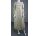 Vintage 60s Size: 8 Ivory Metallic Embroidered Wedding Dress