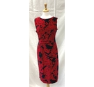 Phase Eight Dress Black & Red Size: 14