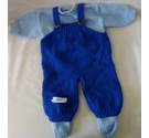 Beautiful hand knitted dolls clothes - Blue