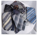 VARIOUS BRANDS 7 x VINTAGE RETRO TIES GREY MIX Size: M