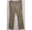 Hollister Straight Leg Trousers Beige Size: M