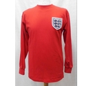 Score Draw Official Retro England 1966 World Cup Shirt Red Size: S