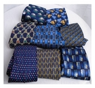 VARIOUS BRANDS 8 X VINTAGE RETRO TIES BLUE MIX Size: M