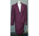 Aria jacket and skirt aubergine Size: 14